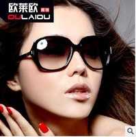 10pcs/lot,wholesale fashion cheap women sunglasses,women's big frame classic lepord gradual lens sunglasses,free shipping