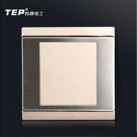 86 wall switch socket panel stainless steel wiredrawing 86s gold champagne gold blank panel series