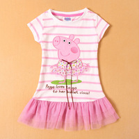 SUMMER 2014! pepe pig children clothing outwear baby girl party dresses,Peppa pig girl print dress brand baby girl casual dress