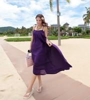 2014 the new pure color chiffon dress Bohemian cross condole beach dress  fashion women Bohemian dress hot sale free