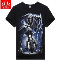 2014 New Style Novelty Men T Shirt Short Sleeves Individual Design Cotton T-shirts 3D Sport Tops Fashion Pullovers D-0008