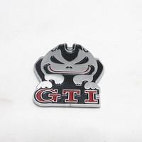 Free Shipping (5pieces/lot)  3D Metal GTI Evil Rabbit Car Logo /Emblem /Badge,Top Quality Car Sticker For VW