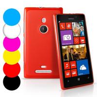 Grip Gel TPU Case Cover For Nokia Lumia 925 + Screen Protector