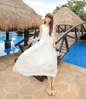 2014 Bohemian chiffon dress seaside resort goddess temperament beach dress fashion women Bohemian dress hot sale free shipping