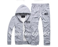free shipping 2014 Spring and Autumn Brand Men Cotton tracksuit Leisure Sport Suit Casual  Men's Sportswear  5011