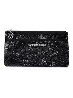 2014 New Fashion Victoria VS Cosmetics Makeup Bags Women necessaries PU leather Paillette Handbags Clutch