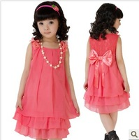 Female child summer chiffon one-piece dress