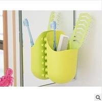 kangaroo pocket toothbrush storage backet / wall suction cup / toothpaste toothbrush holder 072523