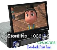 7 inch 1 Din Autoradio With GPS Navigator Car DVD Player Touch Screen Wifi 3G IPOD TV PIP Free 4GB SD Card+Wifi Dongle ks8030