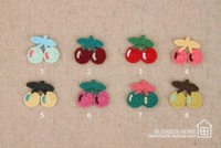 Free shipping cherry shapes patches Motif Appliques, garment knitting patches DIY accessories 050024003