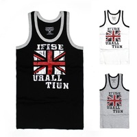 Men's Top Brand High Quality Cotton Tank Top Mens Slim Fit Sexy tank top Stylish sport undershirt Casual with Pattern Union Jack