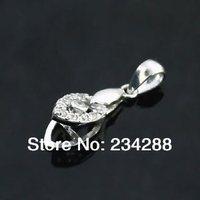 2014 Diy 925 pure silver platinum clip accessories rhinestone jewelry daccessories pendant button archeologists