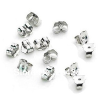 2014 hot selling Diy925 pure silver accessories silver silver gold platinum silver unique earring back free shipping