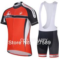 2014 Castelli  Cycling Jersey Short Sleeved /bib Shorts /Cycling Kits/wear Summer !Cycling Clothing Ciclismo Maillot  Size