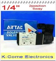 """4v210-08 Airtac Solenoid Valves 1/4"""" Port Size 5 Way 2 Position DC12V 24V AC 110v  220v Coil Pneumatic Control Valve"""