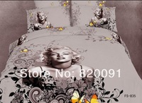 Hot Sale Newest Design Sexy Goddess Marilyn Monroe Comforter Bedding Sets Luxury Cotton Oil Painting Style 4 or 5pcs Full/Queen