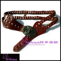 Artka . a akkadian handmade cowhide fashion belt g02400