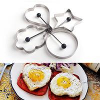 Thickening stainless steel love omelette mould omelette device heart egg ring model eggs mould 4
