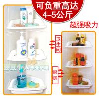 Bathroom strong suction cup plastic shelf kitchen trigonometric storage rack storage rack