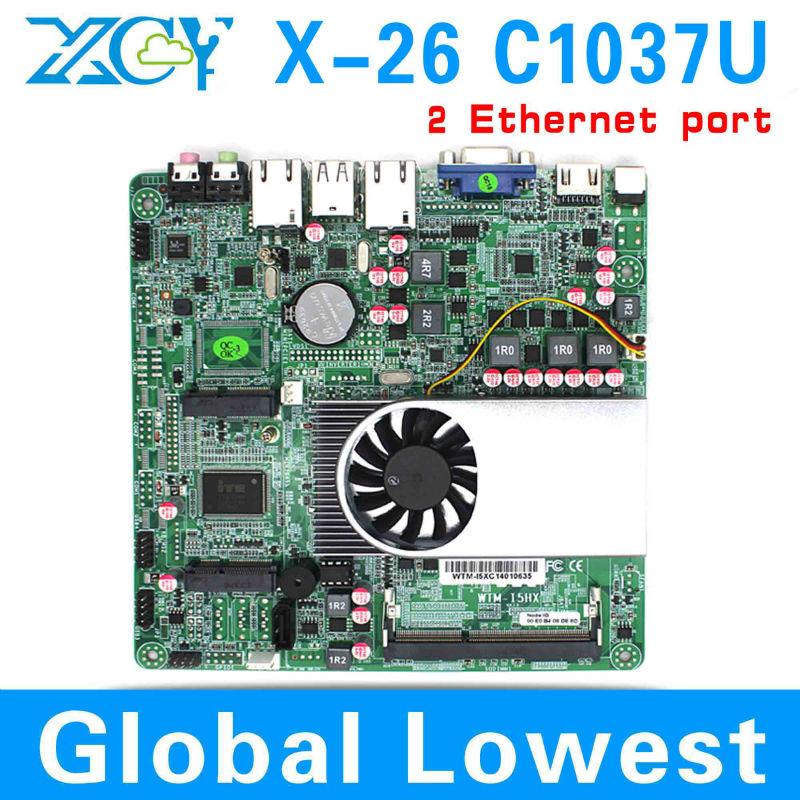 C1037U mini itx embedded motherboard mini mainboard Intel C1037U 2 lan port motherboard Celeron Dual core 1.8Ghz support HDMI(China (Mainland))