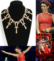 fashion women costume jewelry accessories all-match big cross necklace rihanna necklace