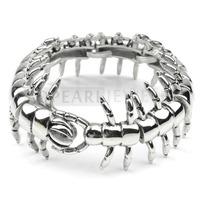 Topearl Jewelry Stunning 316 Stainless Steel Centipede Biker Mens Bracelet MEB195