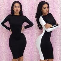 2014 New Arrival ! Fashion Sexy Womens Ladies Backless Slim Fit Bodycon Clubwear Dress Bandage Pencil Dress10068 Free Shipping