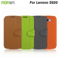 5Pcs/lot Mofi case for lenovo S920 colorful high quality side-turn lenovo S920 leather case.Free shipping