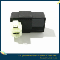 Free Shipping 2pcs Performance 6 pin Racing CDI Ignition Box Chinese 150cc Scooter ATV Part For GY6 TAOTAO Black
