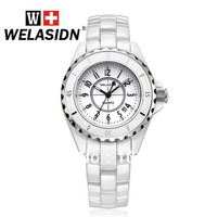 2014 Hot Famous Fshion Design WELASIDN Luxury Ceramic Classics Dress Lady Calendar Women Clock Gift Quartz Watch+Original Box