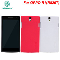 10Pcs/lot NILLKIN super frosted shield case for OPPO R827T With screen protector + Retailed package.Free shipping
