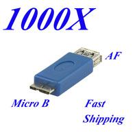 1000 Pieces USB 3.0 Hi-Speed USB 4.8Gbit/s Type A Female - Micro B Male Host Adapter by China Post afmircob1000