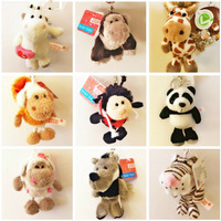 Creative plush animal  Keychain Mini cute  Key Chain Ring  Key Fob Keyring 5pc