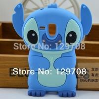 Lilo 3D Cartoon Stitch Soft Silicone Silicon Case Cover for Samsung Galaxy S3 Mini i8190 Skin Cover Movable Ear 1pcs/lot