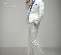 new arrive white suit silm Korea 1 button men's suits wedding suits groom tuxedo suit for mens