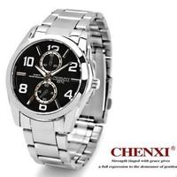 Luxury Business Men Full Steel Quartz  Watches 2014 New Waterproof 10m Casual Analog Wristwatches Sport Military Relogio cx-021c