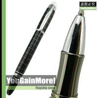 Baoer 79 Starwalker Cross Line Roller Ball Pen Silver Trim Checked New