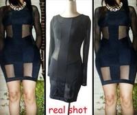 2014 New Arrival ! Fashion Sexy Womens Ladies Bodycon Clubwear Dress Star Bobbi New Style Slit Open Back 10070 Free Shipping