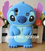 Lilo 3D Cartoon Stitch Soft Silicone Silicon Case Cover for Samsung Galaxy Ace S5830 Skin Cover Movable Ear 1pcs/lot