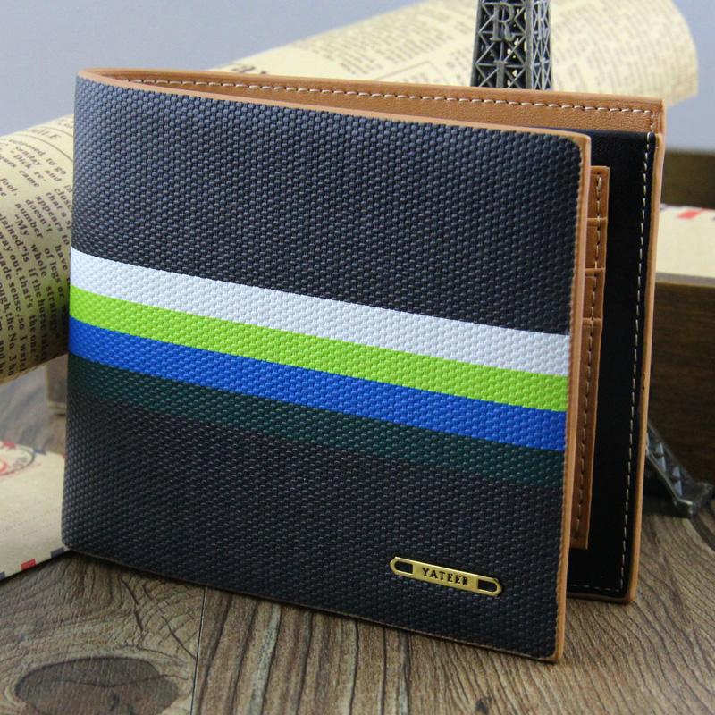 Мужской Бумажник короткий дизайн бумажник моды