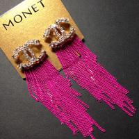 Fashion elegant fashion stud earring earrings long design tassel earrings drop earring vintage