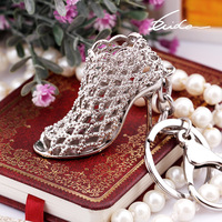 Creative Gift Women Ladies Keychain High Heel Shoes Design Car Key ring
