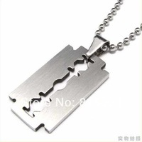 Wholesale jewelry Trendy Men's Stainless Steel Silver nevr fade Necklace Pendant Free Shipping