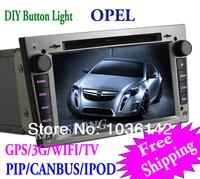 "6.95"" 2 din opel zafira autoradio gps car dvd player with 3g wifi touch screen bt pip swc canbus ks6959w"