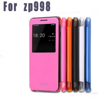 Free shipping Original ZOPO ZP998 Flip case Caller ID display Four colors option