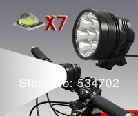 Bike front light 9800LM 7x Cree XML T6 Led Bicycle light Headlight  with 6*18650 battery pack