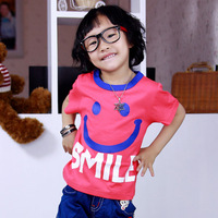 Smiley short-sleeve T-shirt children's clothing