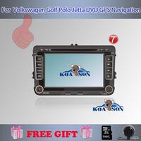 Koason For VW Polo/Jetta/Skoda/Caddy/Skoda Doble DIN Auto DVD Player+GPS Navigation+FM/AM Raio+BT+AUX+Steering Wheel Control