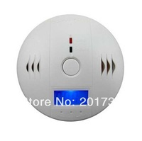 10pcs/lots Free shipping Home security satety system lcd co carbon gas alarm detector