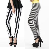 2014 slim sexy fashion all-match black and white thin skinny legging
